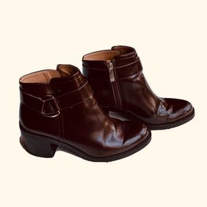 Zara Boots Trafaluc Brown Leather Women's Size 40